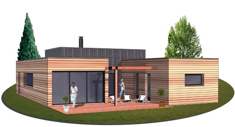 Construction maison bois finistere for Maison bois plain pied
