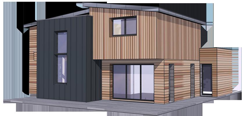 prix construction maison bois pas Chère